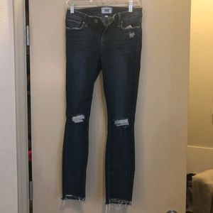 Paige Distressed Jean with Raw Ankle Hem
